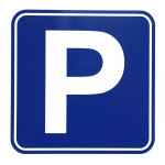 Car parking sign illustration on white background