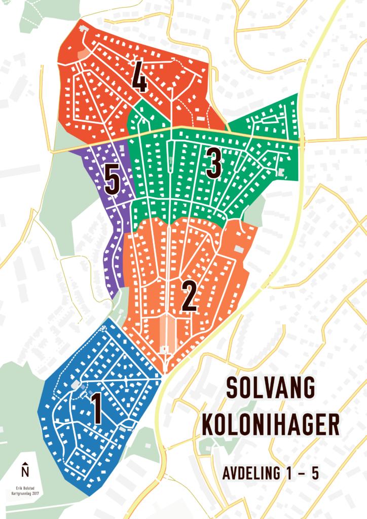 Solvang kolonihager, avdeling 1–5